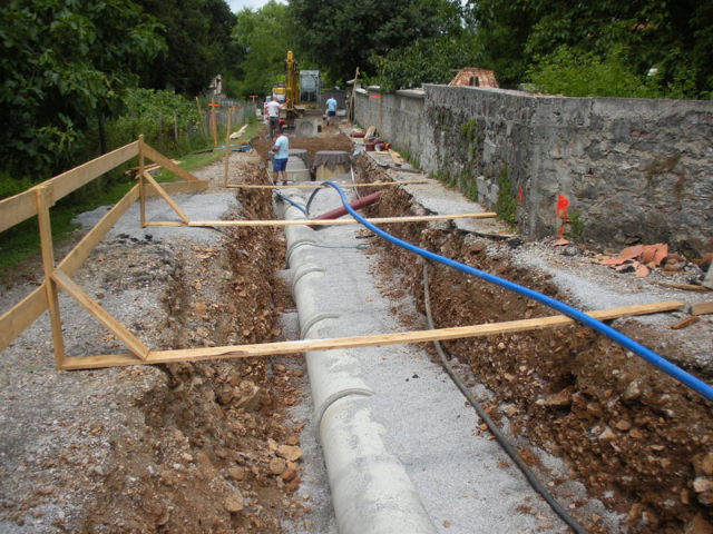 Construction of sewer