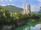 Cement factory on river Soca